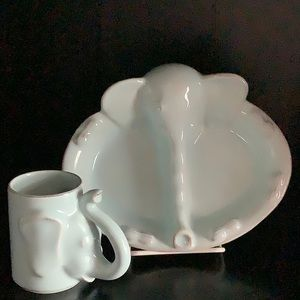 Child's Dinnerware, Cup and 2 Part Plate